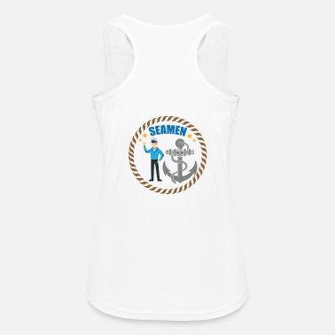 Sailor Sailor / Sailor - Sailor with anchor - Women's Breathable Tank Top
