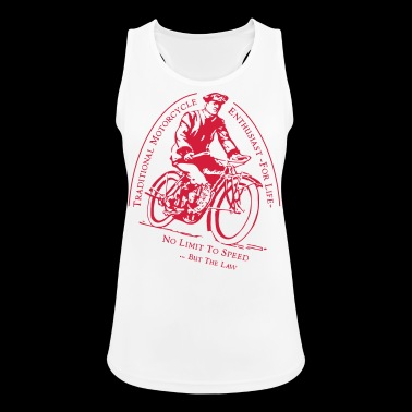 Traditional Motorcycle Enthusiast -For Life - Women's Breathable Tank Top