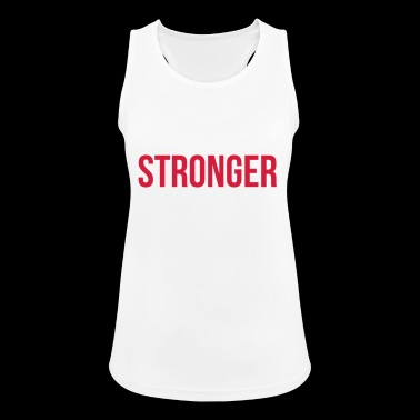Stronger than excuses Fitness Gym Clothing Spruch - Frauen Tank Top atmungsaktiv