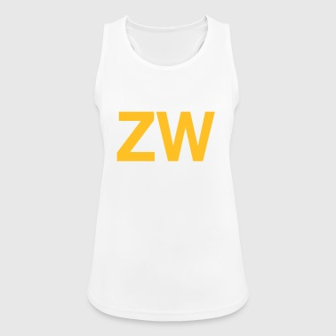 Iniciales ZW - Camiseta de tirantes transpirable mujer
