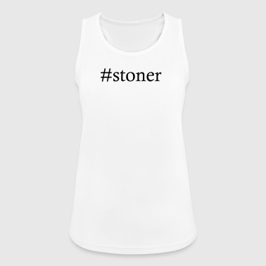 #stoner - Hashtag Cannabis Marijuana THC CBD leaf - Women's Breathable Tank Top