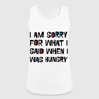 2541614 16037250 sorry hungry - Women's Breathable Tank Top