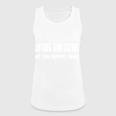 lifting and eating - Women's Breathable Tank Top