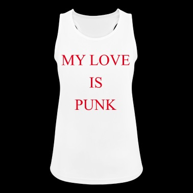 Punk Love Rock Emo Konsert Sayings Gift - Pustende singlet for kvinner
