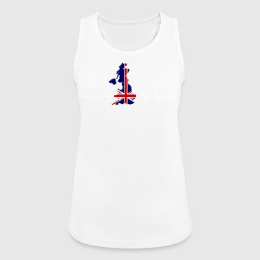 Heartbeat UK - I love the UK - Women's Breathable Tank Top