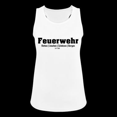 Firefighters rescue rescue shooters Bergen - Women's Breathable Tank Top