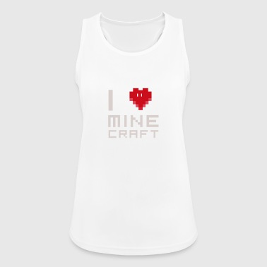 I love MC love computer games Nerd square face - Women's Breathable Tank Top