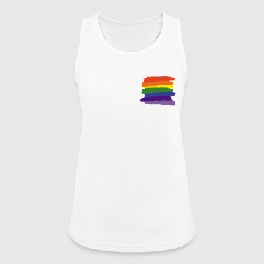 Rainbow Paint Brushes - Women's Breathable Tank Top