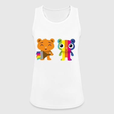 Bears painted with a brush - Women's Breathable Tank Top