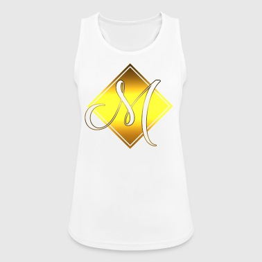 Monogram M initial letter Initial - Women's Breathable Tank Top