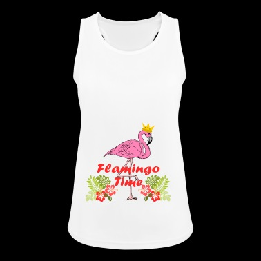 FLAMINGO TIME KARIBIK COMIC URLAUB - Frauen Tank Top atmungsaktiv