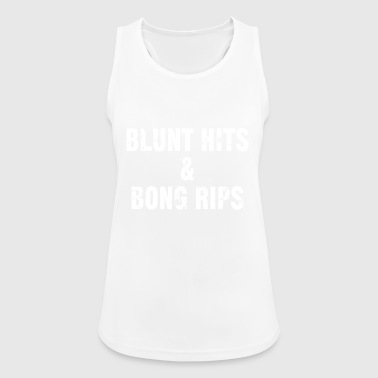 Blunt hits & bong rips - Women's Breathable Tank Top