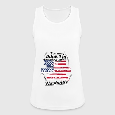 THERAPY HOLIDAY AMERICA USA TRAVEL Nashville - Women's Breathable Tank Top