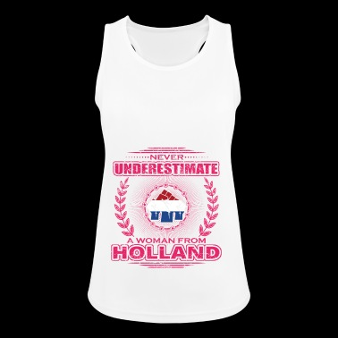 Never Underestimate Woman Frau HOLLAND png - Frauen Tank Top atmungsaktiv