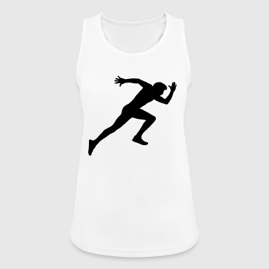 Runner, sports, racing sprint, - Women's Breathable Tank Top