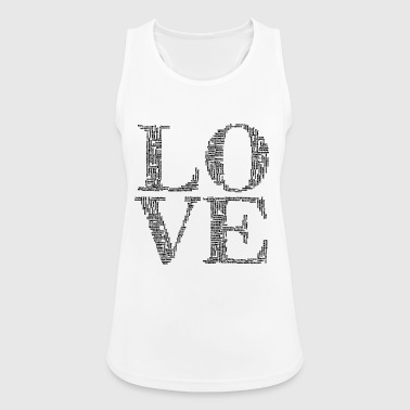 LOVE words - Women's Breathable Tank Top