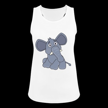 confused elephant - Women's Breathable Tank Top