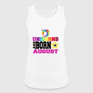 Unicorns are born in August - Women's Breathable Tank Top