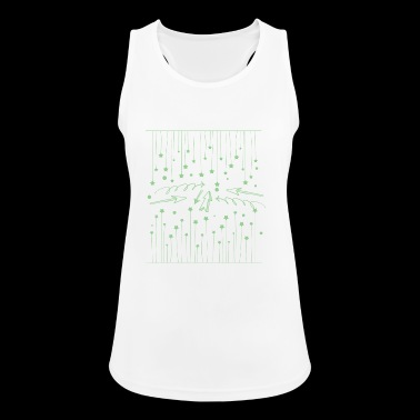 Hanging asterisks with squiggles and arrows - Women's Breathable Tank Top