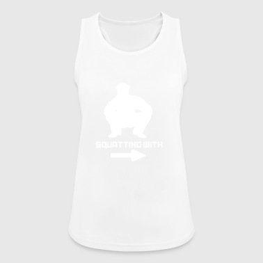 SQUATTING WITH - Women's Breathable Tank Top