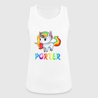 Unicorn Porter - Pustende singlet for kvinner
