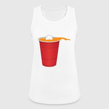 Beer Pong Ball in Cup Splash Geschenkidee Beerpong - Frauen Tank Top atmungsaktiv