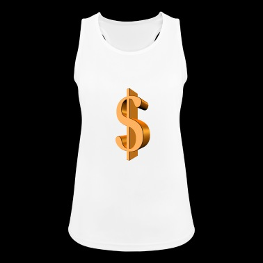 dollar sign - dollar sign - 3D - $$$ - Women's Breathable Tank Top
