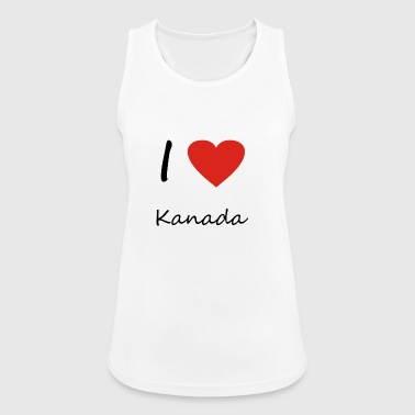 Canada heart gift idea - Women's Breathable Tank Top