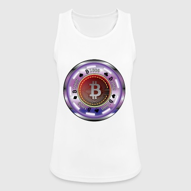 Pokerchip mit Bitcoin - Frauen Tank Top atmungsaktiv