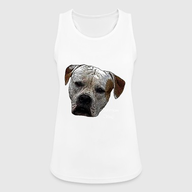 American Pit Bull, Pit Bull, Dogs, Dog, Dog's Head, - Women's Breathable Tank Top
