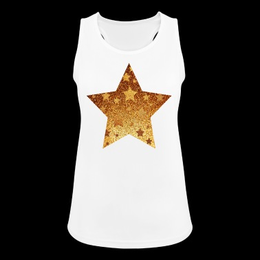 Star with asterisks - gold with gold - Women's Breathable Tank Top