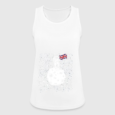 Astronaut with British flag on the moon - Women's Breathable Tank Top