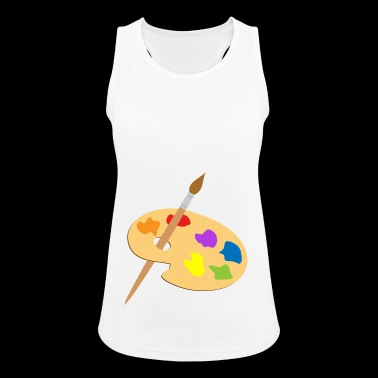 Palette of paint and brush - Women's Breathable Tank Top