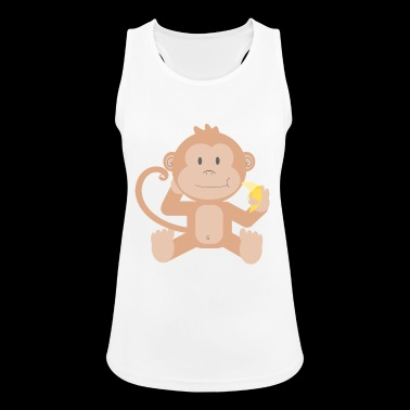 Monkey with banana - Women's Breathable Tank Top