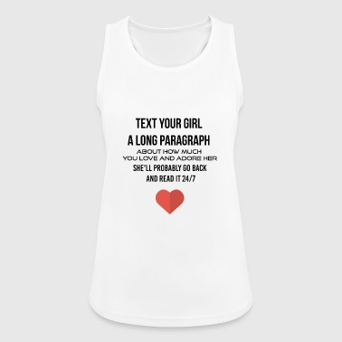 A long paragraph - Women's Breathable Tank Top