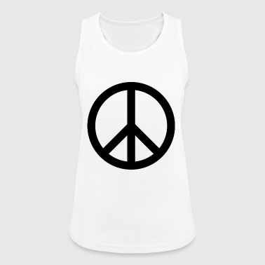 peace sign - Women's Breathable Tank Top