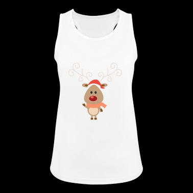 Jo the Christmas reindeer - Women's Breathable Tank Top