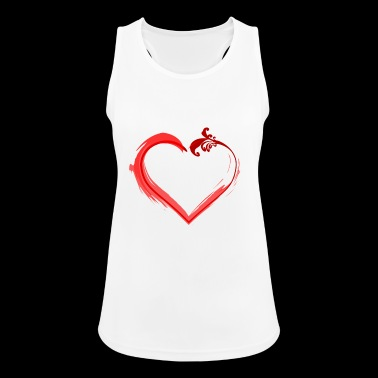Red heart - Women's Breathable Tank Top