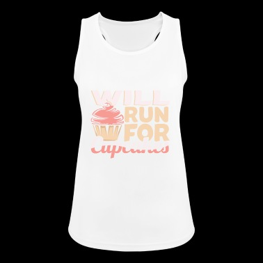 Will run for cupcakes Funny baking - Women's Breathable Tank Top