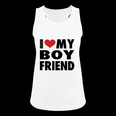I love my boyfriend - Women's Breathable Tank Top