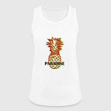 PARADISE RAGGAE PINEAPPLE - Women's Breathable Tank Top