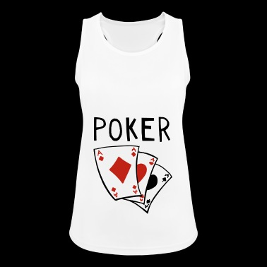 Pokeripeli - Card - Cards - poker - Full House - Naisten tekninen tankkitoppi
