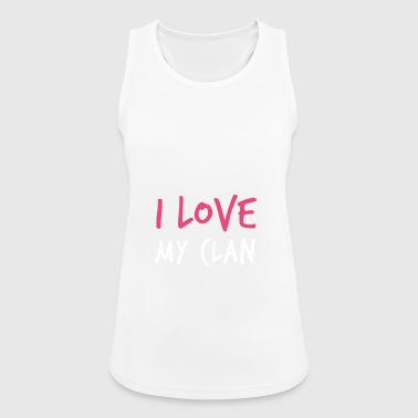 I Love My Clan Family Reunion - Vrouwen tanktop ademend