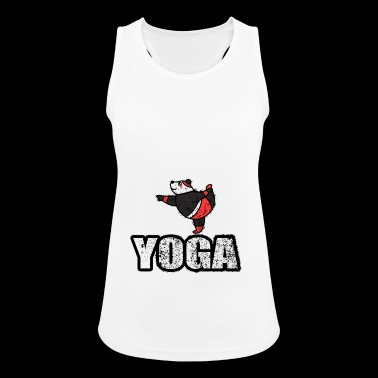 Dancing Yoga Bear Vintage Retro New Age - Women's Breathable Tank Top