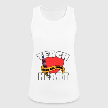 TEACH HEART - Women's Breathable Tank Top