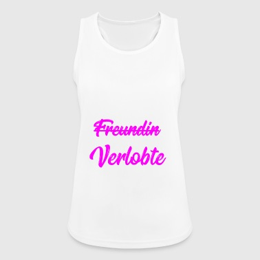 Girlfriend fiance marriage proposal wedding gift - Women's Breathable Tank Top