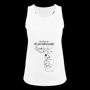 my kind of PLAYGROUND - The climbing wall T-shirt - Women's Breathable Tank Top