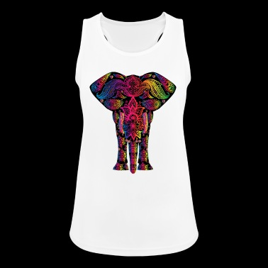 YOGA ELEPHANT BUDDHA MEDITATION T-SHIRT - Women's Breathable Tank Top
