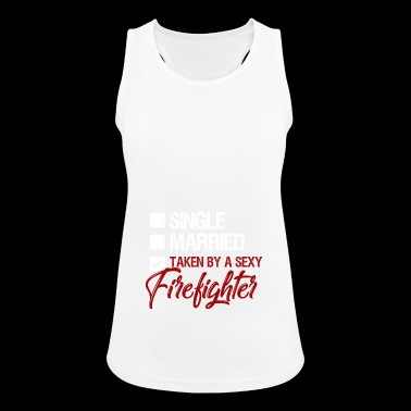 single married awarded to a firefighter - Women's Breathable Tank Top