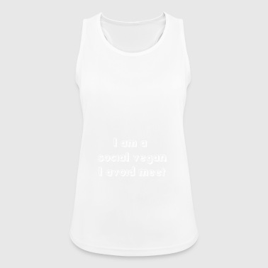 Funny Antisocial Quote Antisocial People gift - Women's Breathable Tank Top